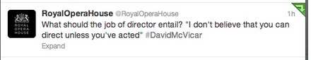 David McVicar tweets from the Royal Opera